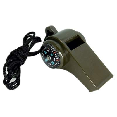 Military Multi-Function High Decibel Survival Whistle Compass Hiking Climbing Accessory(Upgraded Version)