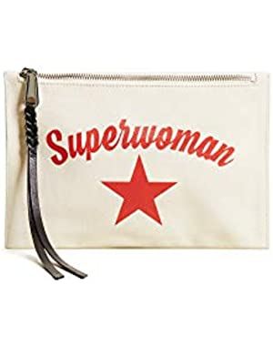 Women's Superwoman Medium Zip Pouch