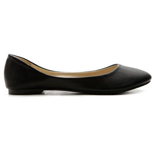 Heel Low Light Shoe Black Ballet Flat Women's Basic Ollio Comfort w0YHqH