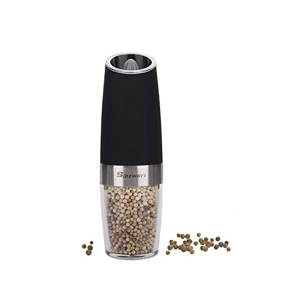 Macinapepe Elettrico, pepe Premium e macina di sale con macina sale elettrico durevole regolabile di precisione… 1