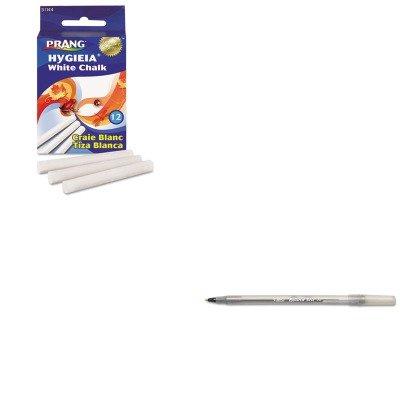 (KITBICGSM11BKDIX31144 - Value Kit - Prang Hygieia Dustless Board Chalk (DIX31144) and BIC Round Stic Ballpoint Stick Pen (BICGSM11BK))