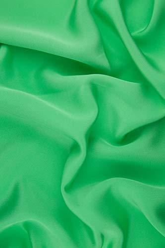 Spring Green Silk 4-Ply Crepe ()