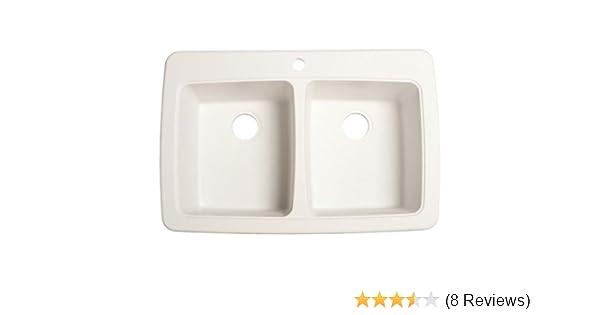 Franke DP33221 Double Bowl Granite Kitchen Sink, White Granite