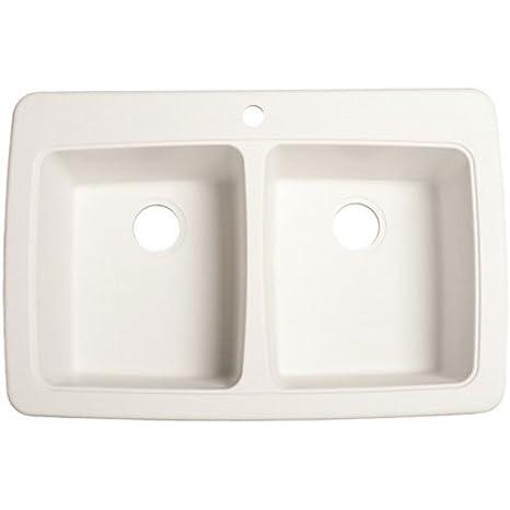 Franke Dp33221 Double Bowl Granite Kitchen Sink White Granite
