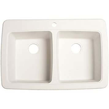 Franke DP33221 Double Bowl Granite Kitchen Sink, White Granite