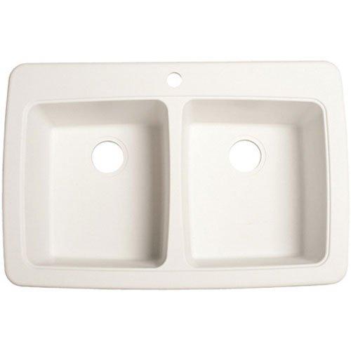 Franke DP33221 Double Bowl Granite Kitchen Sink, White Gr...