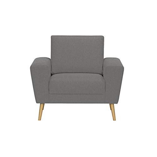White Indoor Codie Sofa Set   1 Seater  Light Grey .