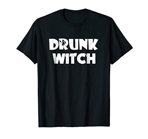 Bad Good Drunk Witch T-shirt. Funny Halloween costune gift