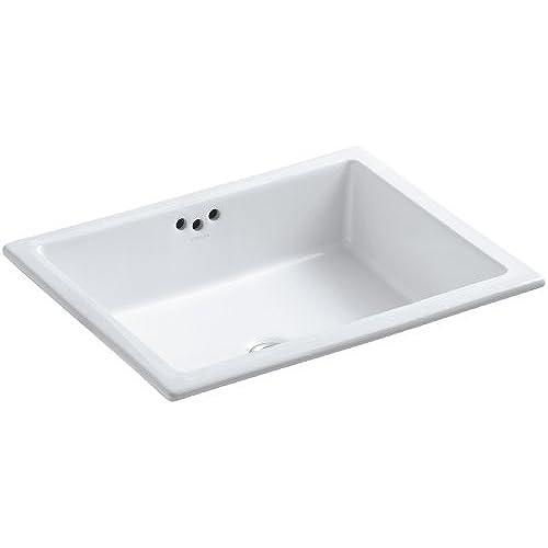 KOHLER K 2330 0 Kathryn Undercounter Bathroom Sink, White