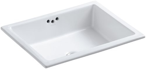 KOHLER K-2330-0 Kathryn Under-Mount Bathroom Sink, White