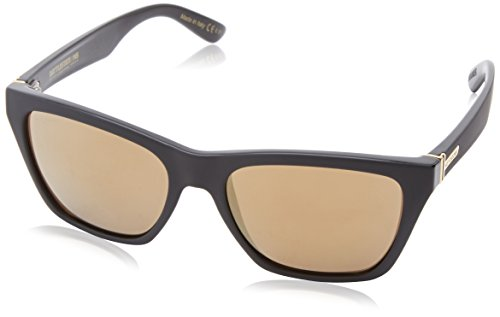 VonZipper Booker Wayfarer Sunglasses,Black/Satin,54.6 - Zipper Von Wayfarer