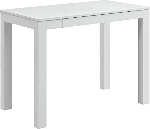 Ameriwood Home Parsons Desk with Drawer, White