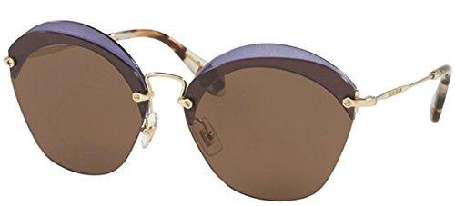 Miu Miu Women's Overlapping Sunglasses, Transparent Violet/Brown, One Size