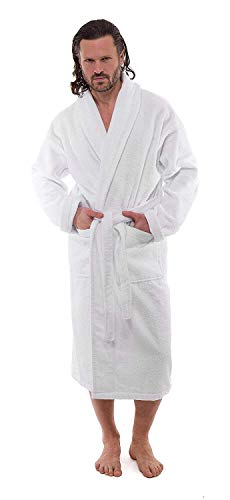 Luxury Terry Cotton Cloth Plush Bathrobe - Premium Cotton Hotel and Spa Robes for Men and Women - Made with 100% Turkish Quality Cotton (XXLarge) by Classic Turkish Towels (Image #2)