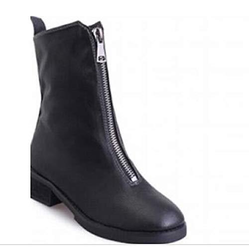 Black US5.5 / EU36 / UK3.5 / CN35 Black US5.5 / EU36 / UK3.5 / CN35 Women's Comfort Shoes PU Autunnale -* Inverno Boots Chunky Heel Mid -Calf Boots Black