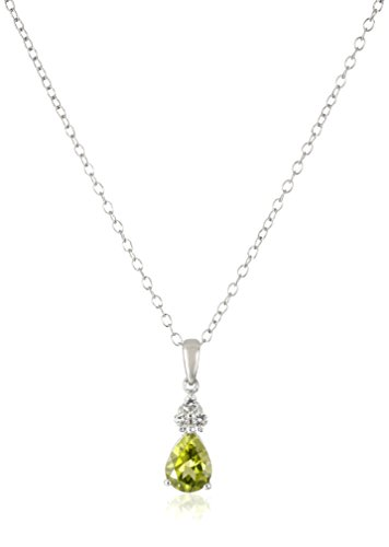 Sterling Silver Peridot Pendant Necklace product image