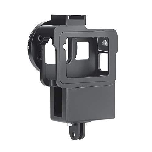 Sodoop Protective Vlogging Cage Case for GoPro Hero 7 6 5, Black Mount Protective Border, Microphone Vlog Cage Housing Shell Frame Case Cold Shoe