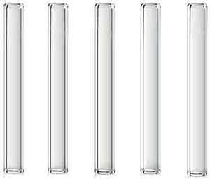 CHENZHIYU CZYU/® 10pcs 100mm 4 Pulgadas de Larga espesura Tubo de ensayo Pyrex Vidrio Soplo