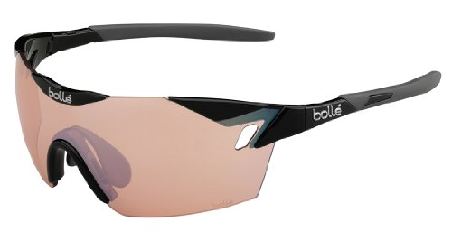 Bolle 6th Sense Sunglasses, Shiny Black/Gray, Modulator Rose Gun oleo AF