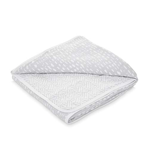 aden by aden + anais Dream Blanket, 100% Cotton Muslin, 4 Layer Lightweight and Breathable, Large 44 X 44 inch, Pasture - Drips