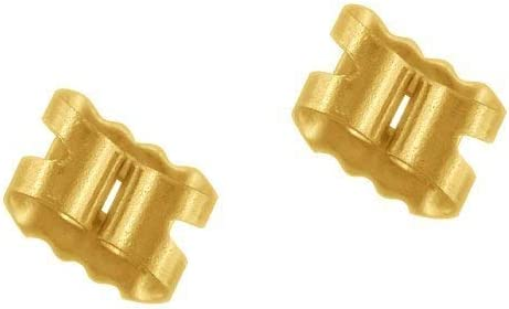 Pair 9ct  Yellow Gold Butterfly Back Scrolls  Push Fit
