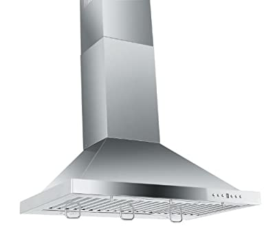 Z Line KB-30-LED Stainless Steel Wall Mount Range Hood, 30-Inch