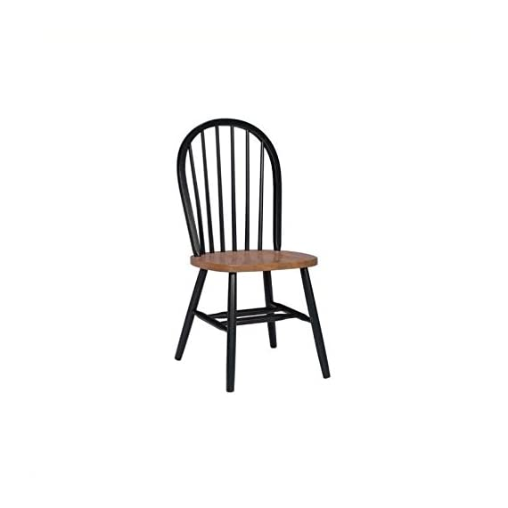 International Concepts 37-Inch High Spindle Back Chair, Black/Cherry - No assembly required Plain seat Rated for residential use only, not intended for commercial use - kitchen-dining-room-furniture, kitchen-dining-room, kitchen-dining-room-chairs - 31UwQXcuzgL. SS570  -