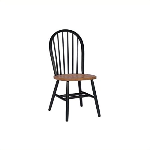 (International Concepts C57-212 37-Inch High Spindle Back Chair, Black/Cherry)