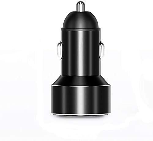 車の充電器、デジタルディスプレイの車のバッテリー充電器、ミレーサムスンHuawei社のためのデュアルUSB車の充電アダプタ Charger (Color : Black, Plug Type : Universal)