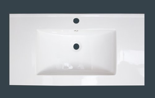 American Imaginations 659   36-Inch  X 18-Inch  White Ceramic Top with Single Hole by American Imaginations (Image #3)