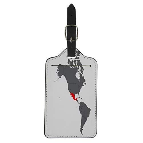 - Pinbeam Luggage Tag South Mexico Red Map on Gray America Latin Suitcase Baggage Label