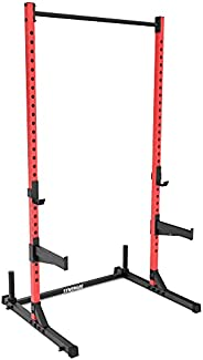 Synergee Squat Stand Rack with Pull Up Bar, J-Cups, Safety Arms, Landmine, Step Plate, Barbell Holder & We