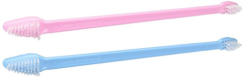 Paw Brothers Dual-End Toothbrush – 50/Tub Pink/Blue for Pet Groomers