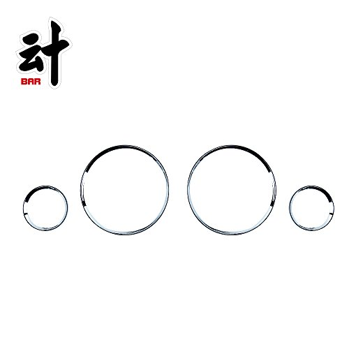 BAR Autotech  Chrome Gauge Rim Cluster Dashboard Bezel Ring For BMW E30 3 (Bmw Gauge)