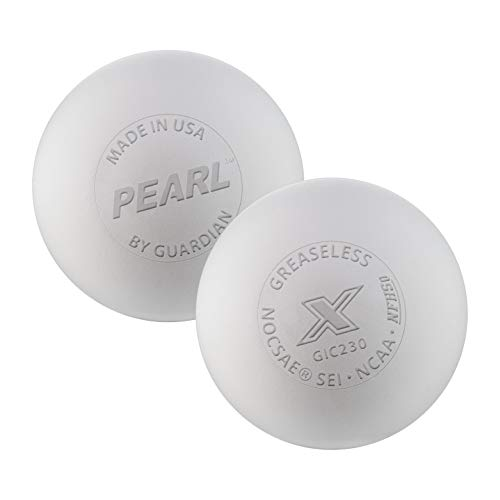 The Pearl by Guardian - Pearl X Greaseless Lacrosse Balls (White, 10 - Ball Greaseless