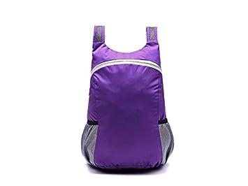 AGOPO Mochila Mochila Impermeable Plegable al Aire Libre de los Deportes Que Sube la Mochila Que Sube (púrpura) para Viajar: Amazon.es: Deportes y aire ...
