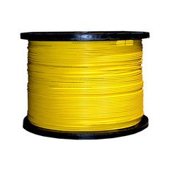 Dealsjungle 6 Fiber Indoor Distribution Fiber Optic Cable, Singlemode 9/125, Plenum Rated, Yellow, Spool, 1000ft
