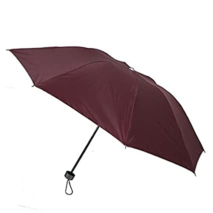 eDealMax Al aire Libre a prueba de Viento Cortina de Sun Lluvia plegable Paraguas Rojo Regalo