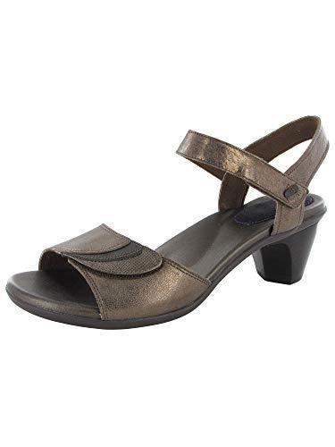 Aravon Women's Medici Heeled Sandal, Bronze, 8 D US