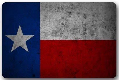Fun Qiaoya Texas State Flag Western Texas Star Door Mats Cover Non-Slip Machine Washable Outdoor Indoor Bathroom Kitchen Decor Rug Mat Welcome Doormat - 23.6