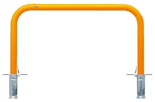 サンポール アーチ 差込式フタ付 車止めポール 直径76.3mm W1500×H800 黄 メーカー直送 FAA-8SF15-800(Y)   B07MXBYTQH