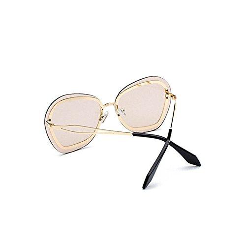 Aoligei Lunettes Outdoor hommes et femmes universel grand cadre affichage fines lunettes de soleil océan tranche fraîche et confortable Sungla rétro Petites entreprises FdJl78B40