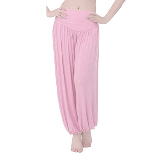 Pantaloni Sportivi Eleganti Moda Donna Pantaloni Yoga Primaverile Estivi Multistrato Semplice Glamorous Nahen Taille Vita Elastica Baggy Pantaloni Harem Pantaloni Grazioso Di Moda Lunga Trousers Pink