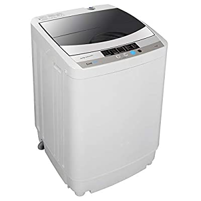 ZENSTYLE Full-Automatic Multifunctional Washing Machine Portable Compact 10 LB Top Load Laundry Washer/Spinner w/Drain Pump,10 programs 8 Water Level Selections, 5.74 FT Power Cord, 6.57 FT Inlet Hose