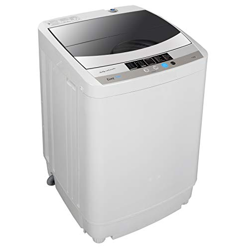 ZENSTYLE Full-Automatic Mini Multifunctional Washing Machine Portable Compact Design 10 LB Top Load Laundry Washer/Spinner w/Drain Pump, 5.74 FT Power Cord, 6.57 FT Inlet Hose