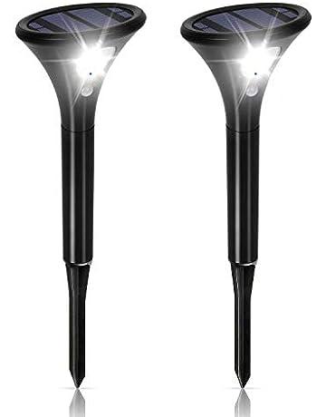 Luces Solares Jardín, Lamparas Solares Exterior con Sensor de Movimien IP65 Impermeable Paisaje Pathway Lámpara