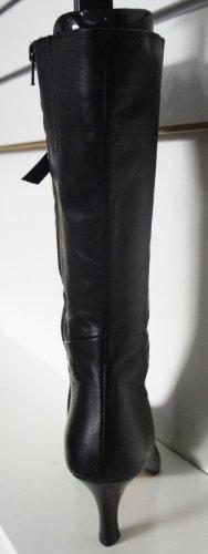 Clarks–Jet Nero in Pelle Altezza Caviglia Tie anteriore stivali