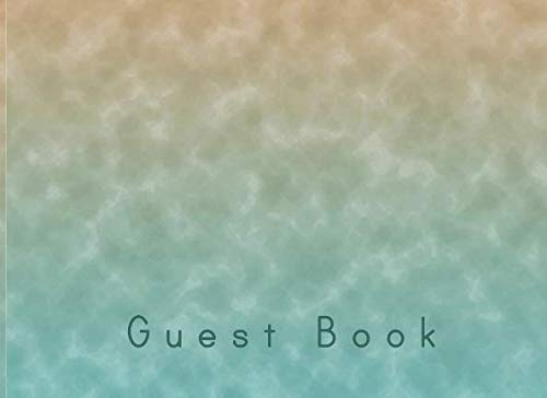 (Guest Book: Lined Visitors Guestbook With Prompts - For a Beach House, Vacation Home, B & B, Guest Room, Waterfront Condo, or Cottage Rental - Watery Cover)