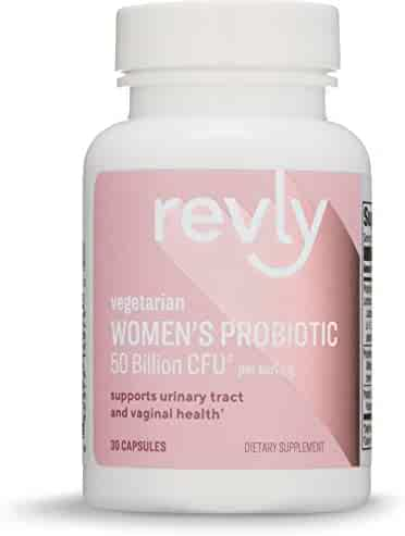 Amazon Brand - Revly Women's Probiotic 50 Billion CFU, 30 Capsules, 1 Month Supply