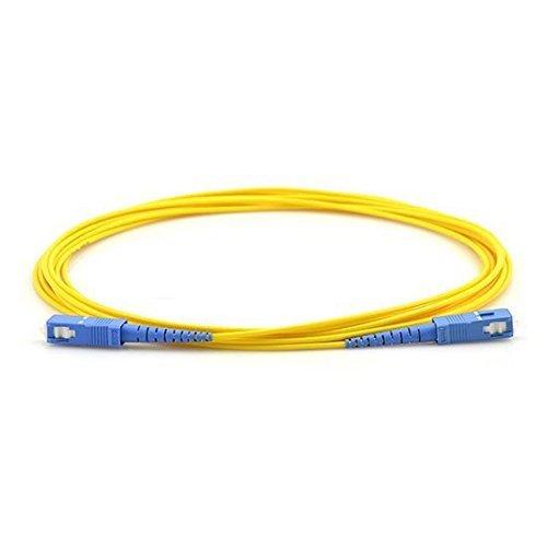 FiberShack Fiber Optic Patch Cable SC to SC Simplex Single Mode 1M // 3.28ft